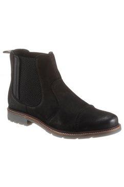 bruno banani chelsea-boots met stretchinzet zwart