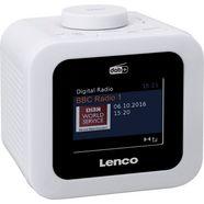 lenco wekkerradio cr-620 wit