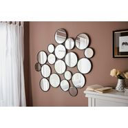 leonique sierspiegel malisa wanddecoratie, bestaand uit 19 ronde spiegelementen zwart