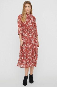 vero moda midi-jurk rood