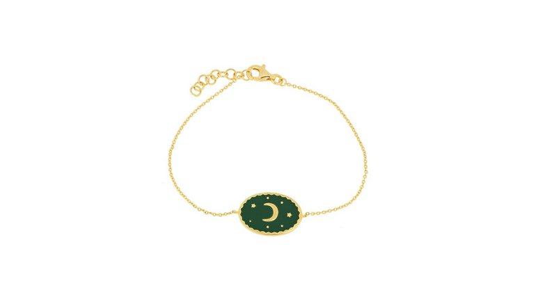 Firetti armband »Mond & Sterne, vergoldet, in glänzender Optik, massiv«
