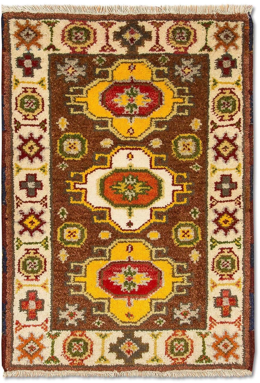 morgenland wollen kleed Kazak-kleed met de hand geknoopt bruin voordelig en veilig online kopen