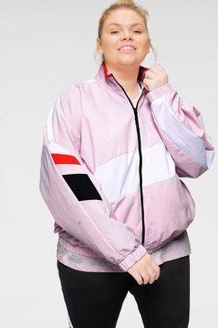 reebok windbreaker »woven jacket« roze