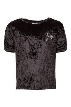 tom tailor t-shirt »t-shirt aus samt« zwart