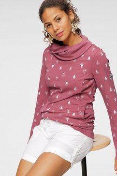 kangaroos sweatshirt met warme ruime colkraag en print all-over roze