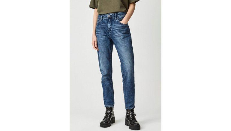 Pepe Jeans high-waist jeans Violet Relaxed pasvorm met hoge band in five-pocketsstijl, authentiek van 100% katoenen denim