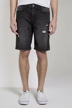tom tailor denim jeansbermuda loose fit jeansshort in 90's wassing zwart