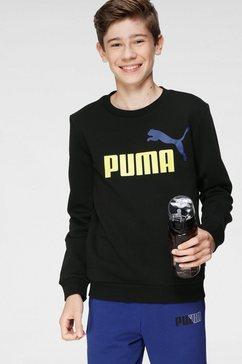 puma sweatshirt »ess+ 2 col big logo crew fl b« zwart