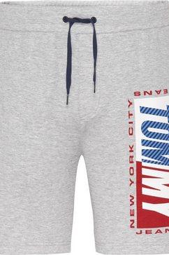 tommy jeans sweatshort tjm essential logo short grijs