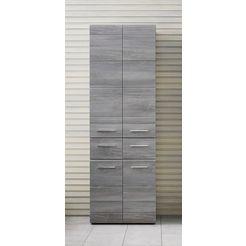 hoge kast skin met 4 deuren grijs