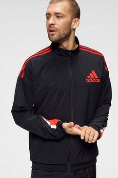 adidas performance trainingsjack fullzip tracktop zwart