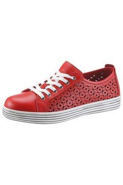 gemini sneakers ulli met geperforeerde buitenkant rood