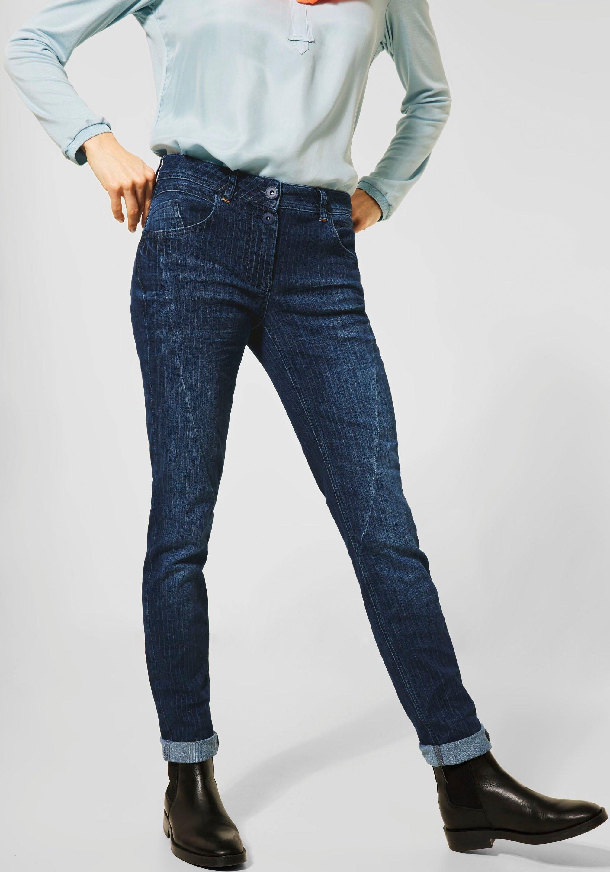 Cecil slim fit jeans met krijtstrepen goedkoop op otto.nl kopen