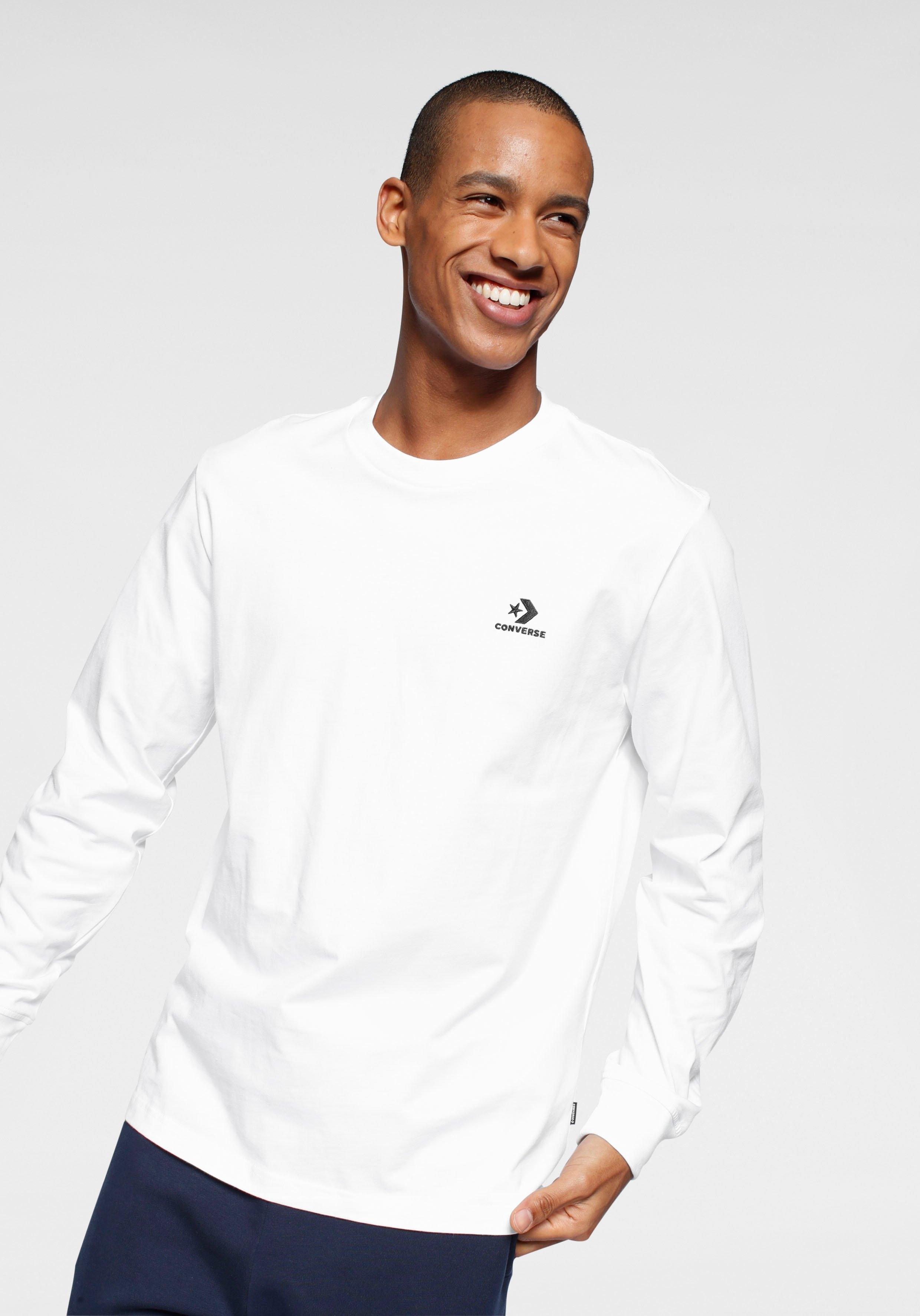Converse Shirt met lange mouwen MENS EMBROIDERED STAR CHEVRON LEFT CHEST LONG SLEEVE TEE nu online bestellen