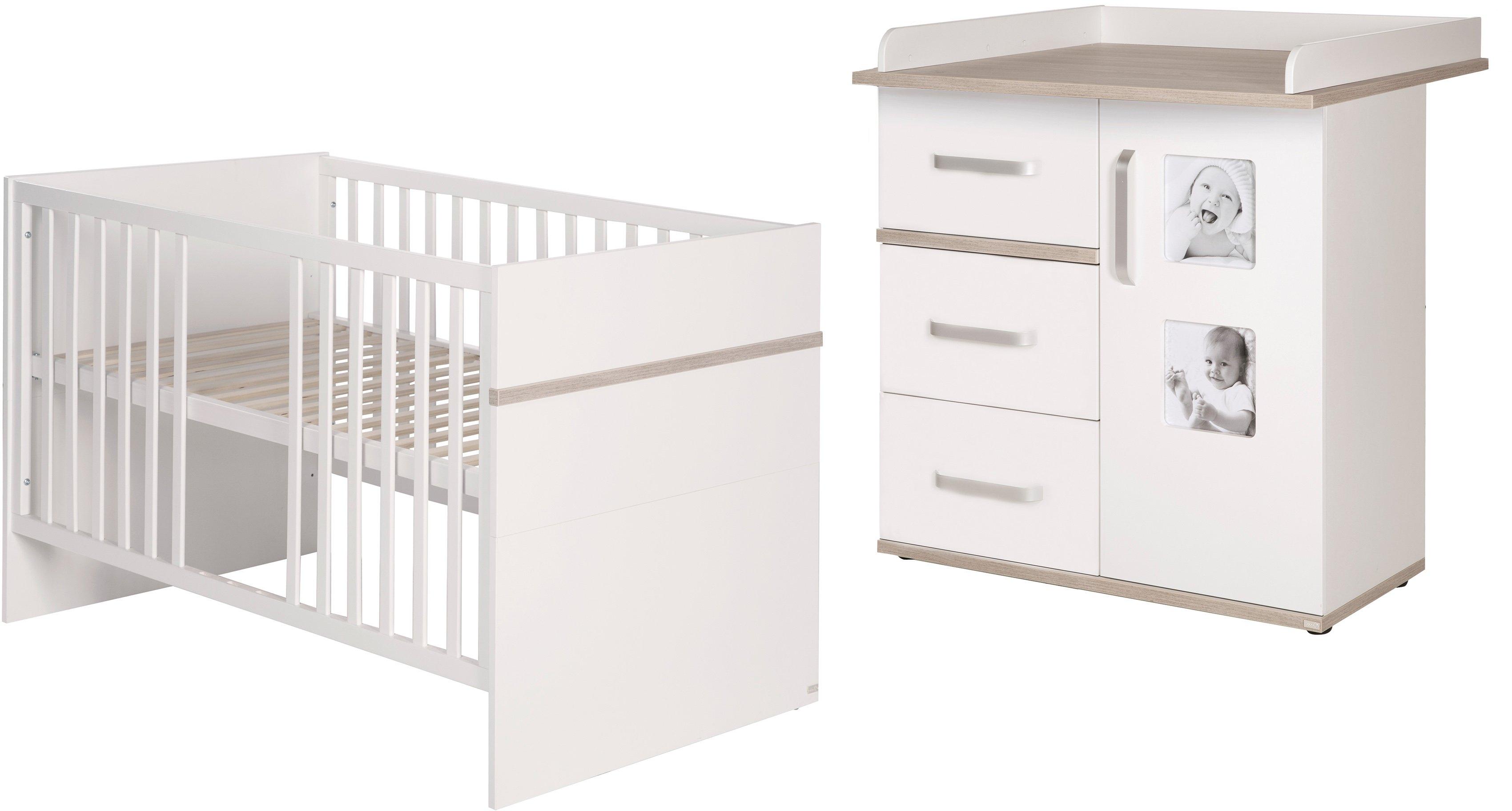 Roba babymeubelset Moritz met kinderbed en smalle commode; made in europe (voordeelset, 2 stuks) online kopen op otto.nl