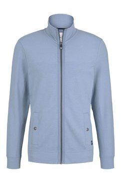 tom tailor sweatshirt sweatvest met staande kraag blauw