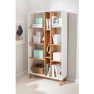 home affaire boekenkast saillon van massief grenenhout, met vele opbergmogelijkheden, breedte 100 cm wit
