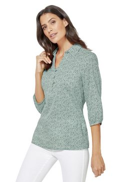 classic inspirationen blouse met modern minimal-dessin groen