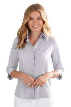 classic basics klassieke blouse zilver