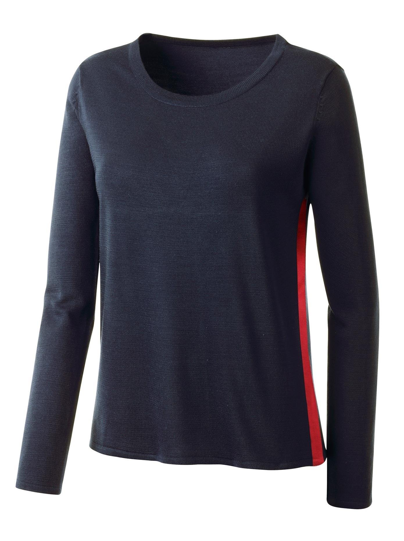 Op zoek naar een Classic Basics trui met rode galon aan beide zijkanten? Koop online bij OTTO