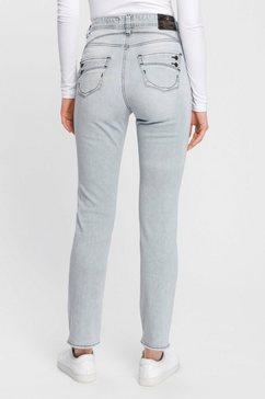 herrlicher rechte jeans »piper high straight« grijs