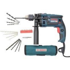 bosch professional klopboormachine gsb16 re (set) blauw