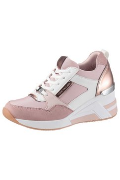 tom tailor sneakers met sleehak roze