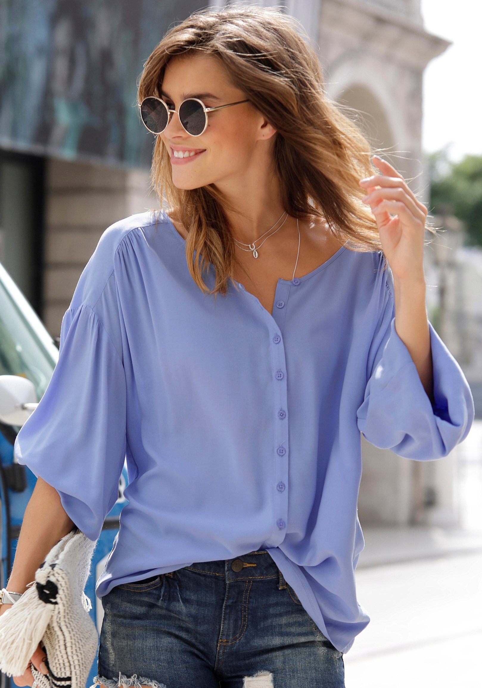 Lascana blouse met lange mouwen in oversized model bestellen: 30 dagen bedenktijd