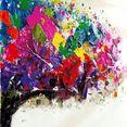 schneider artprint op linnen motief boom, afm. (bxdxh): 80x3x80 cm (set, 2 stuks) multicolor