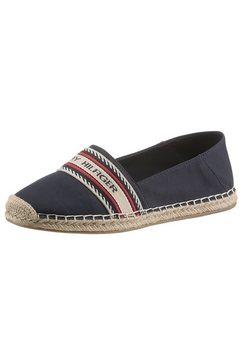 tommy hilfiger espadrilles th artisanal espadrille in smalle schoenwijdte, met siernaden blauw