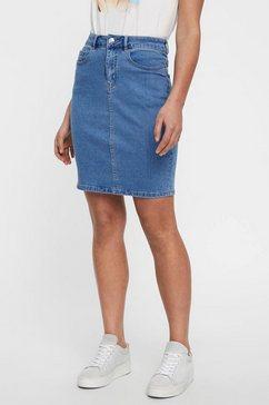 vero moda jeansrok »vmhot nine« blauw