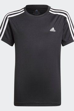 adidas t-shirt 3-stripes designed2move aeroready primegreen junior regular mens zwart