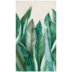 bodenmeister fotobehang bananenbladeren junglegroen groen