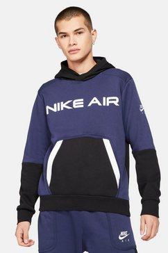 nike hoodie »nike air men's pullover fleece hoodie« blauw