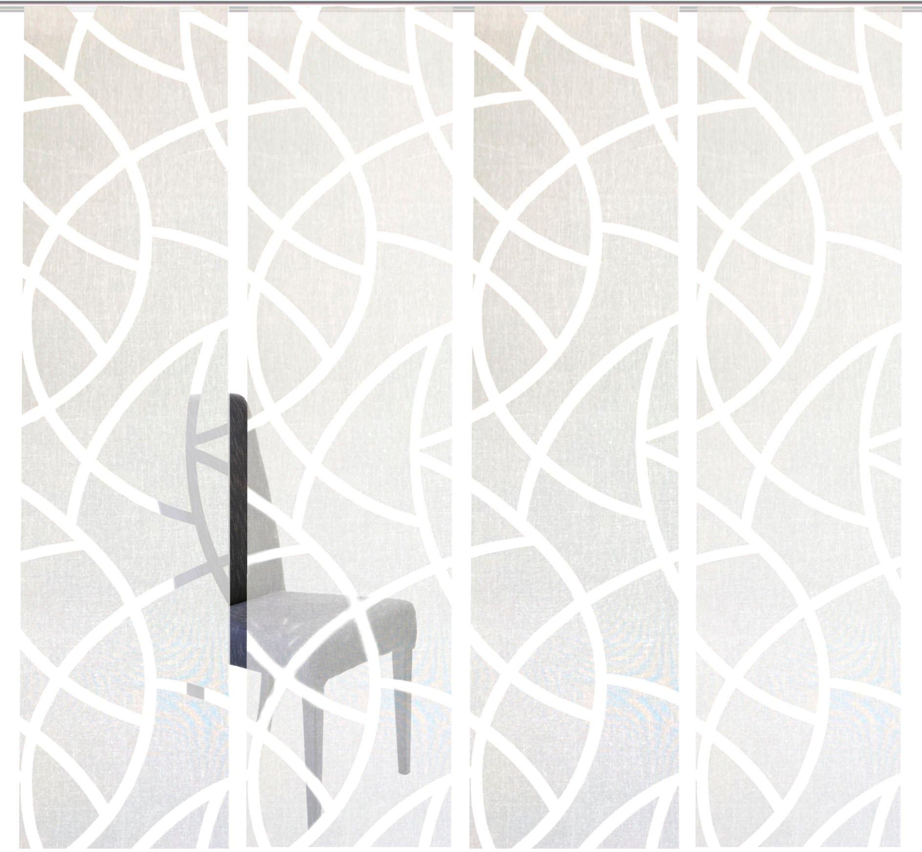 HOME WOHNIDEEN paneelgordijn CASSÉ Gordijnstof, met transparante scherli (4 stuks) in de webshop van OTTO kopen