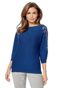 lady trui met vleermuismouwen blauw