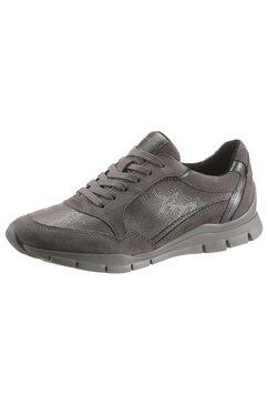 geox sneakers sukie met leren binnenzool grijs