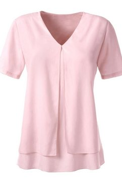 ambria blouse met v-hals roze