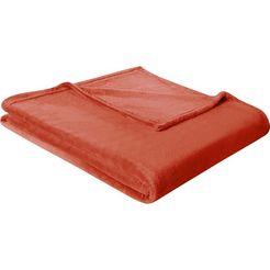 biederlack deken »king-fleece« oranje