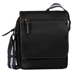 tom tailor schoudertas »warren flap bag« zwart