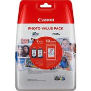 canon inktpatroon pg-545xl-cl-546xl + fotopapier (set) multicolor