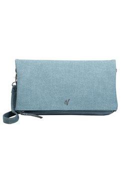 vleder bag clutch tamara met zilverkleurige details, bekend uit de tv-serie gzsz blauw
