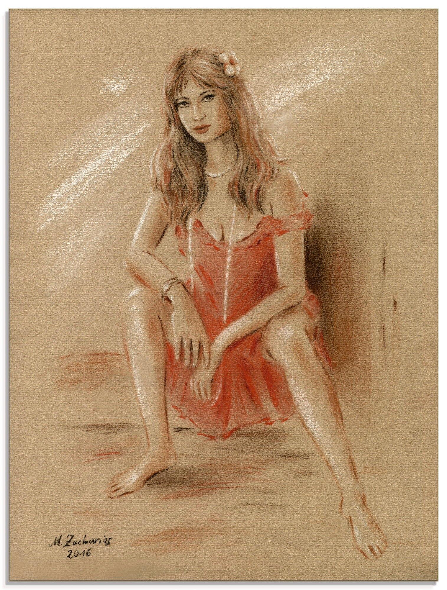 Artland print op glas Verlangen - erotiek vrouwen (1 stuk) goedkoop op otto.nl kopen