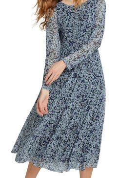 tom tailor gedessineerde jurk van soepele mesh blauw