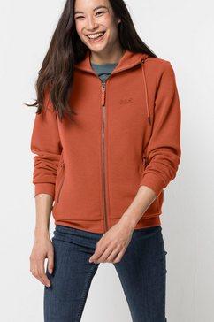 jack wolfskin fleecejack »white coast jacket w« oranje