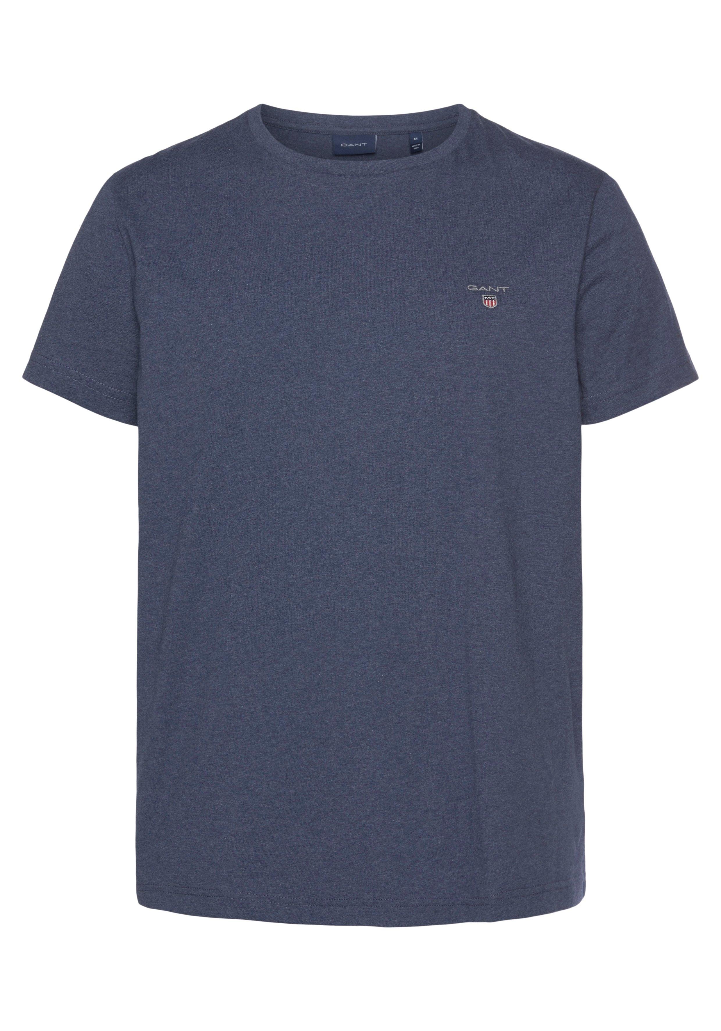 Gant T-shirt klein contrast-logoborduursel online kopen op otto.nl