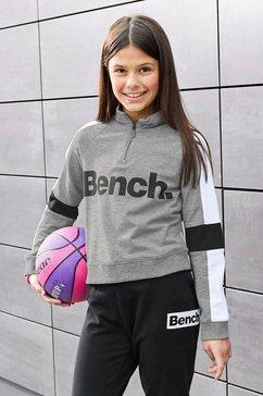 bench. sweatshirt met een opstaande kraag in een kort model grijs
