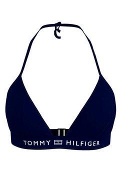 tommy hilfiger triangel-bikinitop blauw