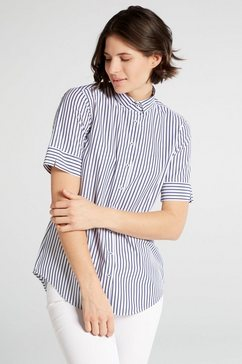 eterna blouse met korte mouwen »modern classic« blauw
