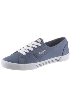 pepe jeans sneakers »aberlady eco« blauw